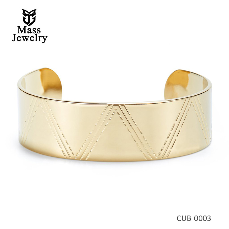Unique Wide Bracelet