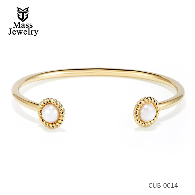 Wedding Gold Plated Brass Bangle Bracelet