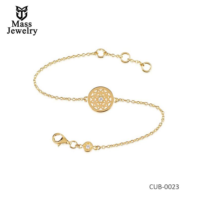 Heart Bracelet 18K Gold Plate