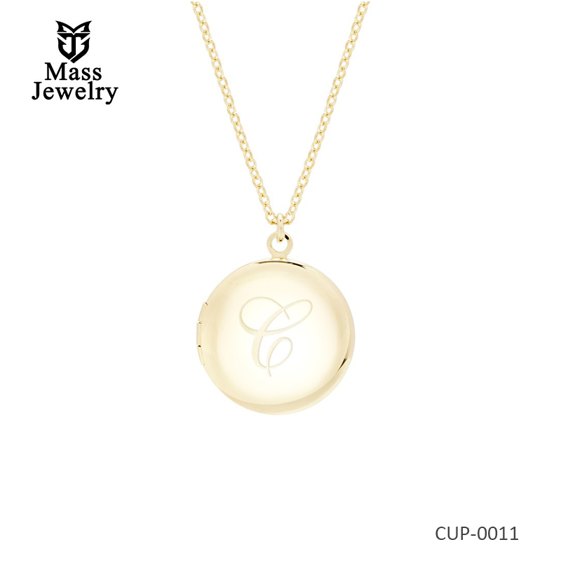 14K rose gold plated brass necklace