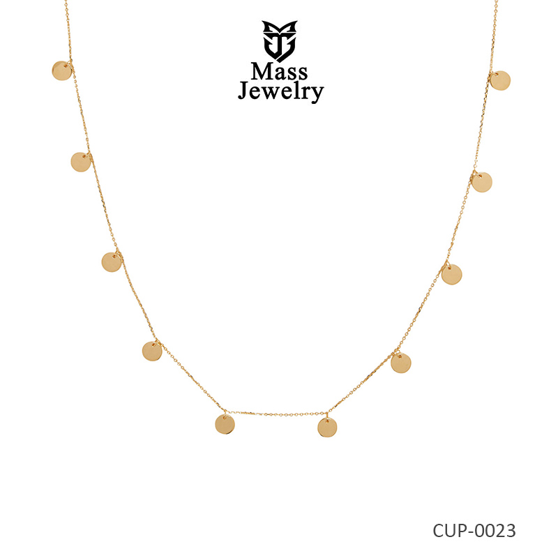 Custom Gold Plated Brass Necklace