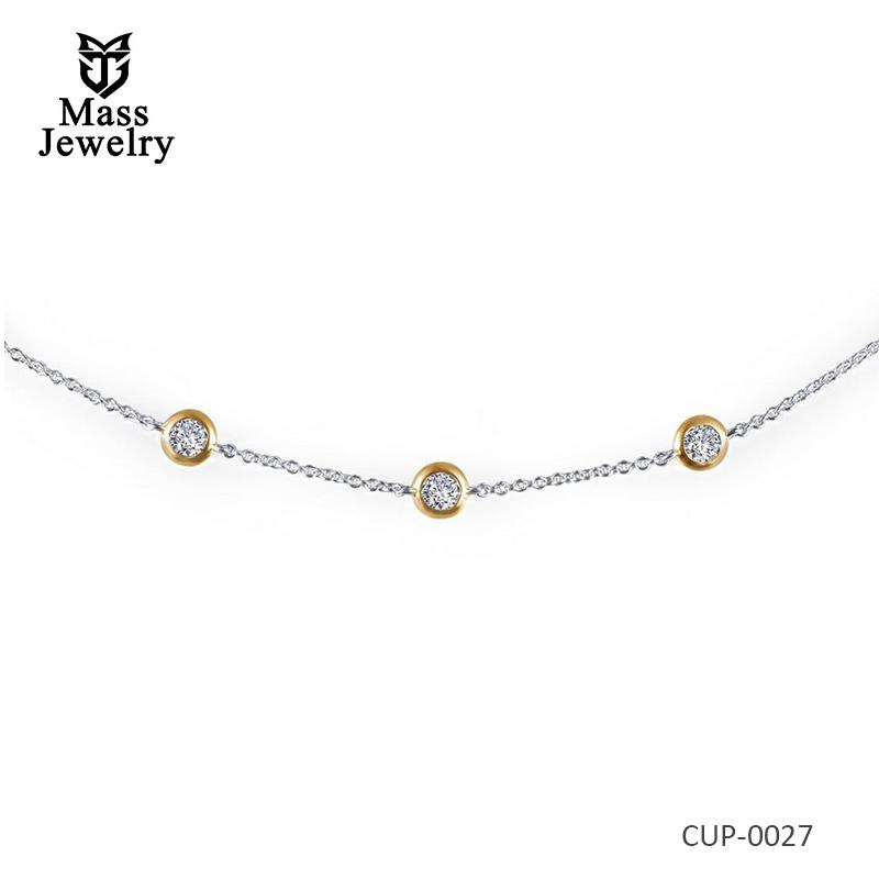 Joy 2-Tone Plated Brass Necklace
