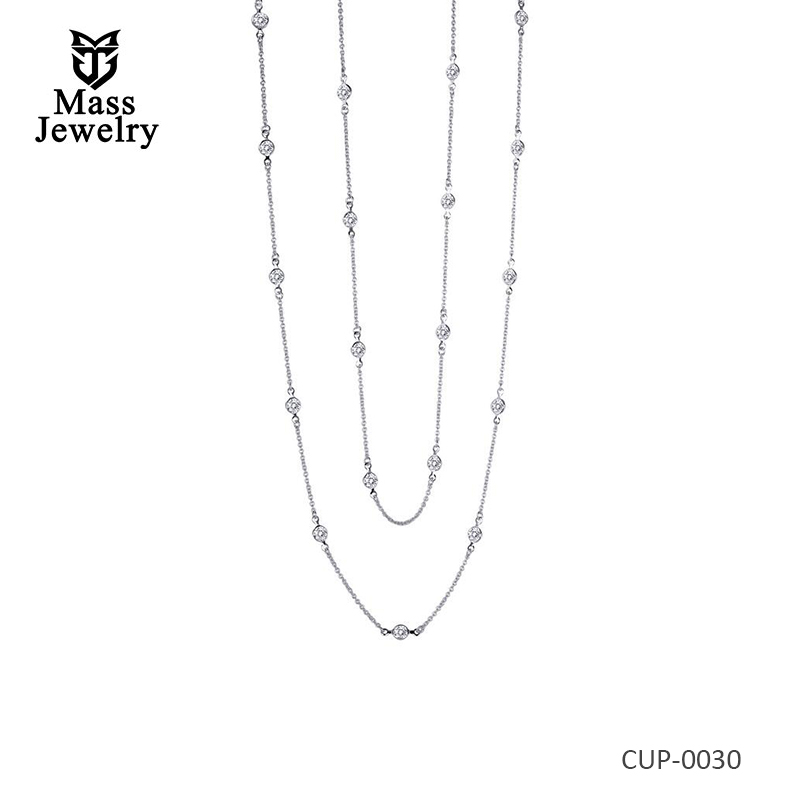 Charming Classic Brass Plated   Necklace