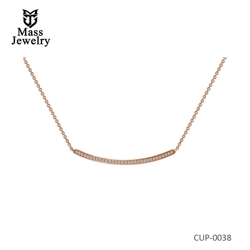 Rose Gold Plated Brass Necklace