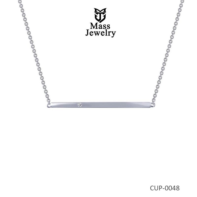 Bar Necklace in Brass