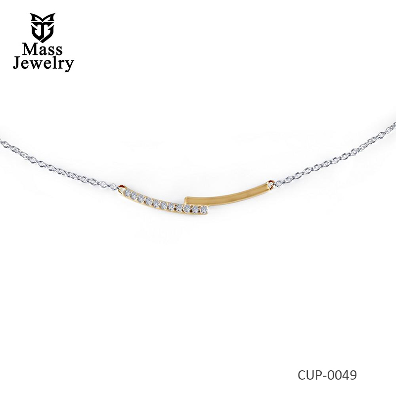 2-Tone Brass Necklace