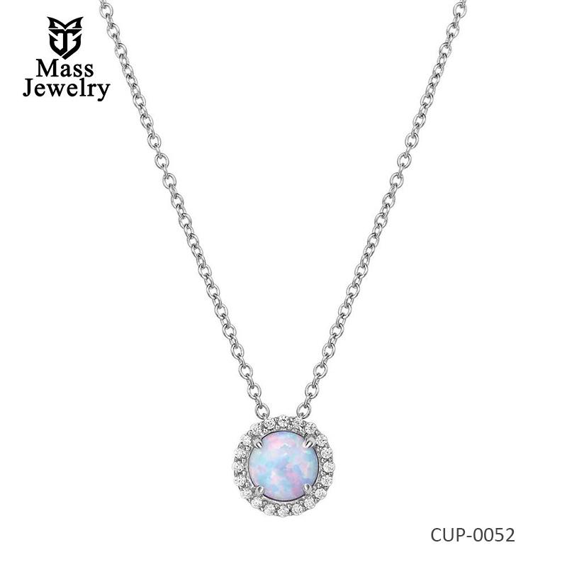 OCTOBER Opal Brass Necklace