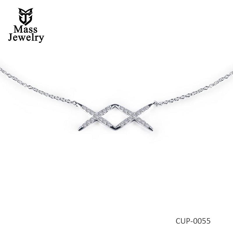 X Choker  Brass Necklace