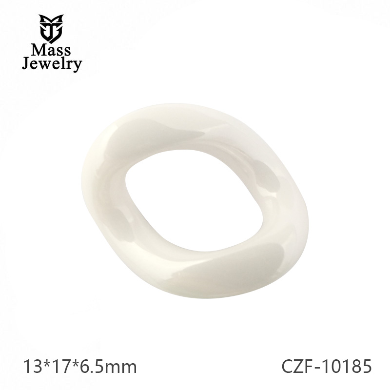 Black Pure Ceramic Fitting Semi Ceramic Jewelry