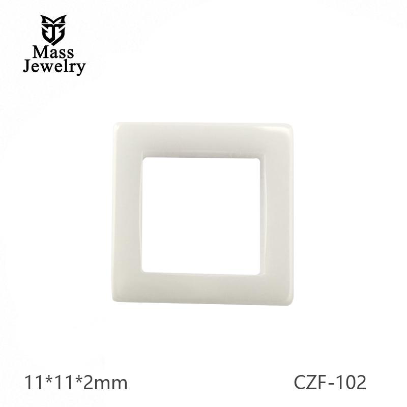 Square Ceramic Elements For Ceramic Jewelry
