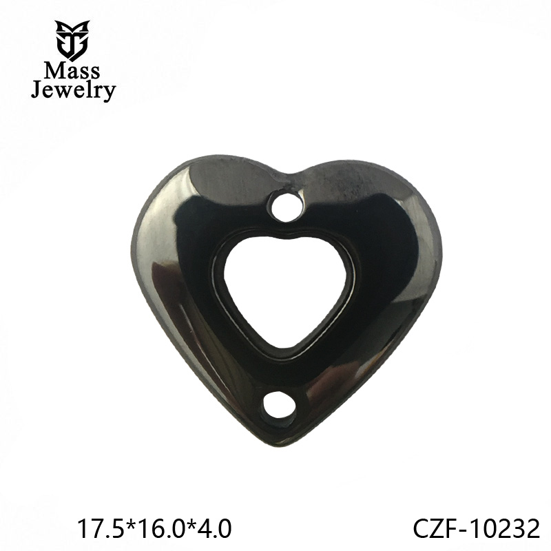 High Quality Ceramic Accessories Semi Ceramic Heart Jewelry