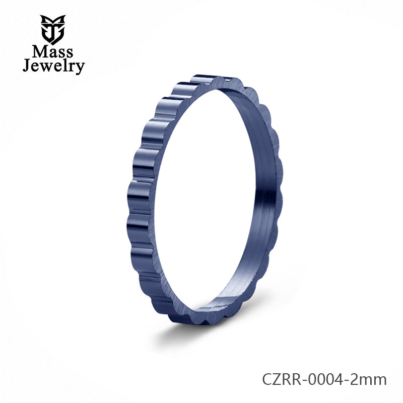 Best Selling Ceramic Micro-Inlaid Zircon Couple Semi-Circular Ring Jewelry