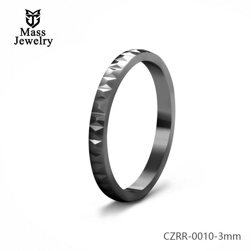 3mm Pure Ceramic Ring Semi Ceramic Jewelry