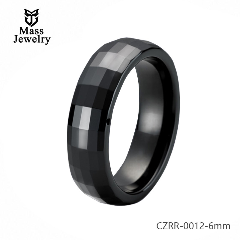 Pure Ceramic Ring Ceramic Manufacturer Semi Ceramic Jewelry Diamond Cutting Ring