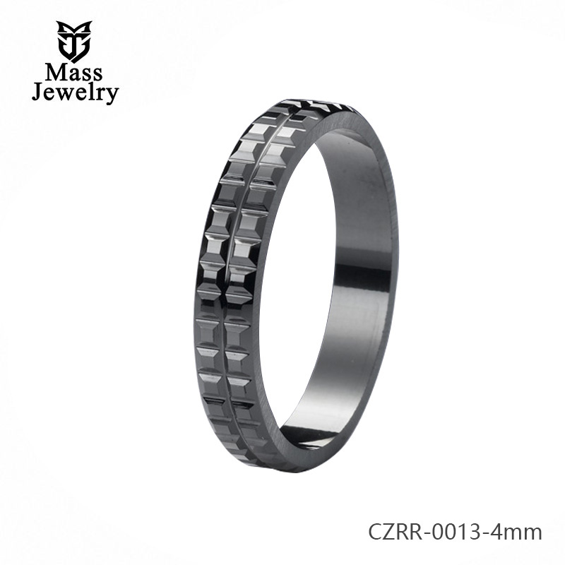 Pure Ceramic Ring Semi Ceramic Jewelry High Quality