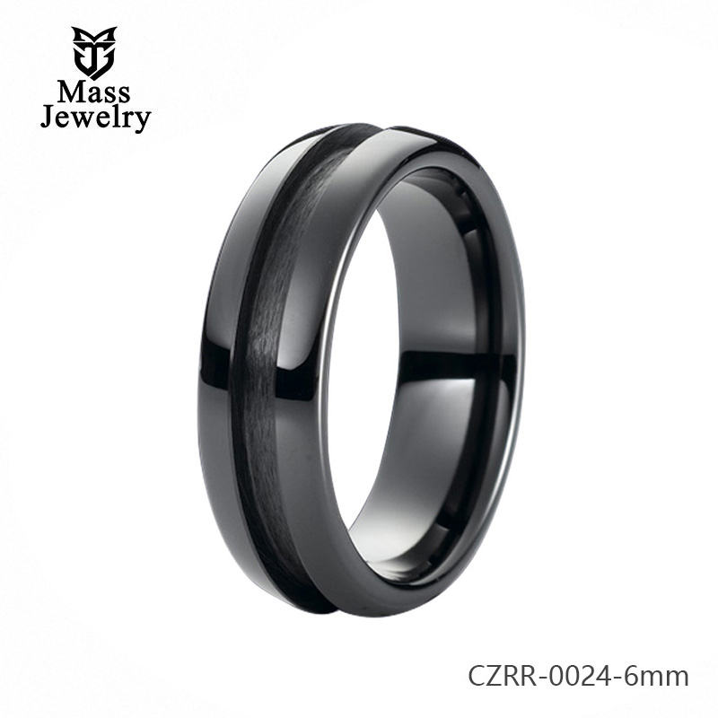 Pure Ceramic Ring Semi Ceramic Jewelry In China