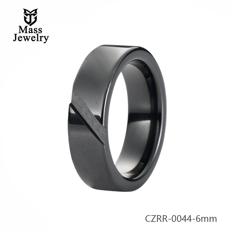 New Pure Ceramic Ring Semi Ceramic Jewelry Unisex Ceramic Ring