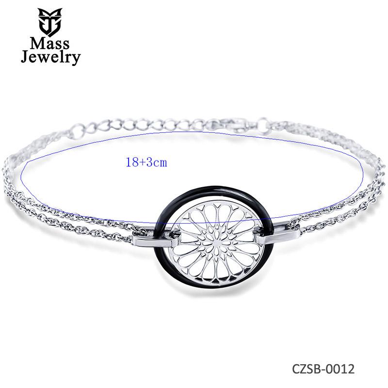 Ceramic Silver Bracelet