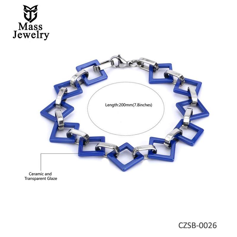 Ceramic Silver Bracelet or Steel ceramic bracelet