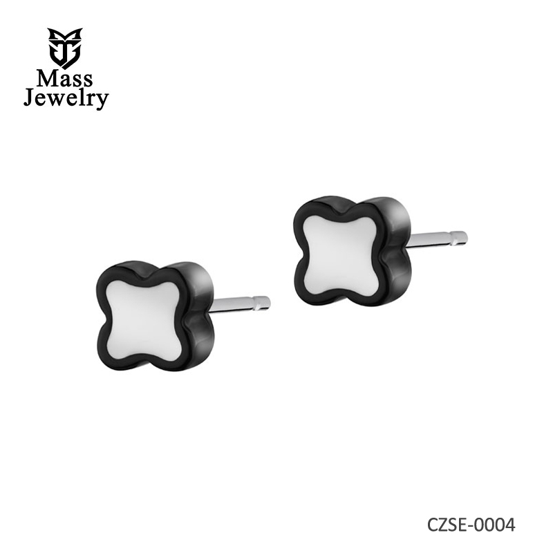 Rhodium Plated Silver Eearrings