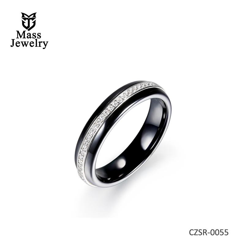 Korean Style Fashion Ring Ring High-tech Ceramic Sterling Silver Ring Ring Wholesale