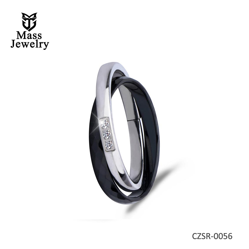 New Cross Ceramic Rings For Women Unique Design Fashion  Silver Ring For Gift