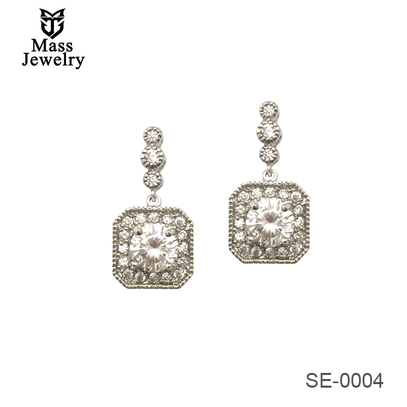 New Design Creative Jewelry High-Grade Elegant CZ Earrings Wedding Party Earrings For Woman