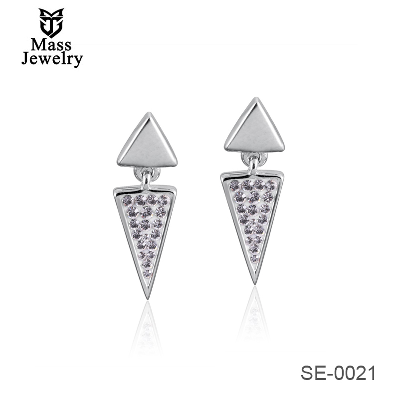 925 Sterling Silver Jewelry Drop Shipping 2019 Latest Design For Girl Gift Charm Silver Earring