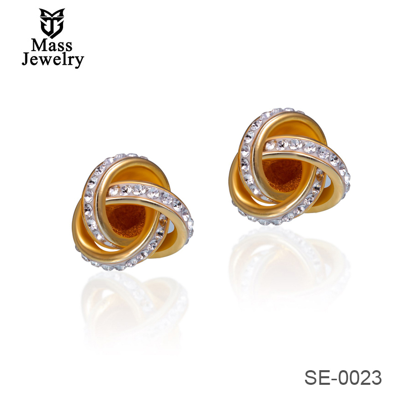 925 Sterling Silver Earrings Hot Selling Jewelry Simple Knot Stud Earrings Fashion Jewellery