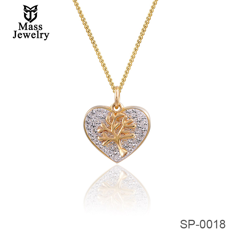 925 Sterling Silver Chain Necklace With Love Pendant Crystal From Swarovski
