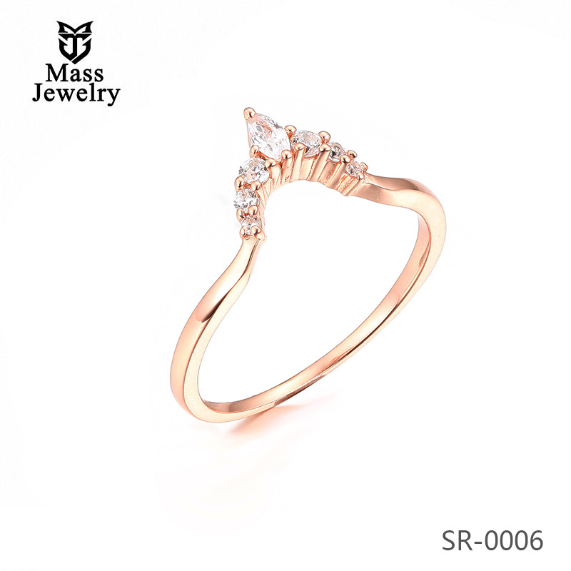 China Factory Customized Jewelry Women'S CZ Stone Sterling Silver Ring