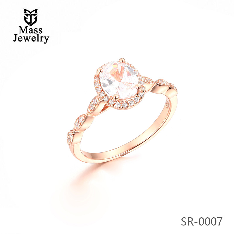 Manufacturer Direct Sale 925 Sterling Silver Ring CZ Wedding Ring Women