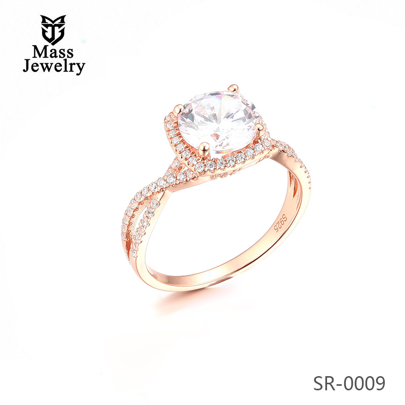 Fashion Jewellery Cubic Zirconia Stone 925 Silver Jewelry Rings