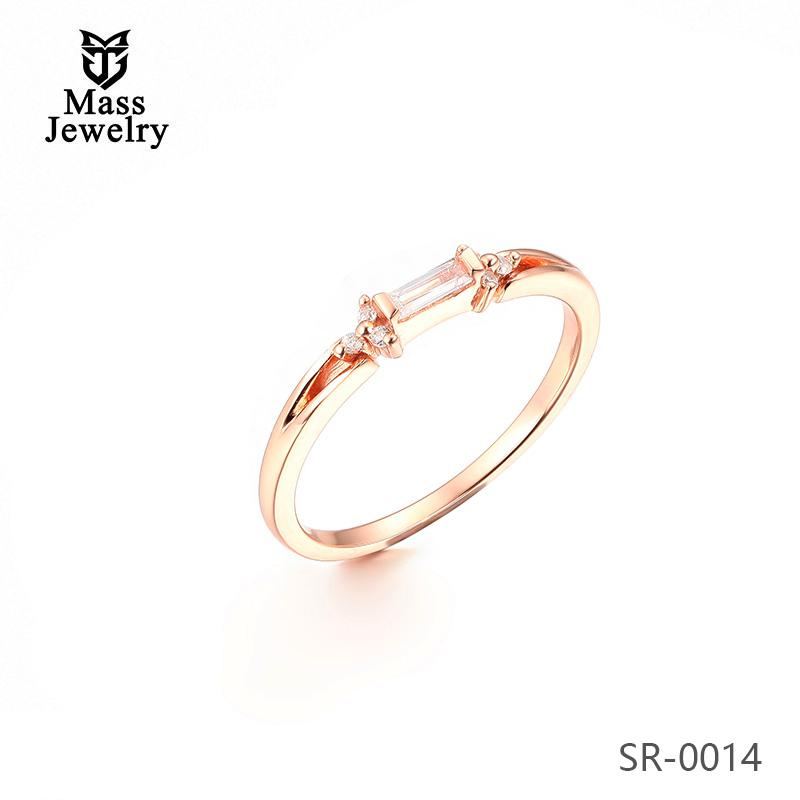 Minimalist Delicate Jewelry Design 925 Sterling Silver Seven Stone Silver Ring Designs For Girl