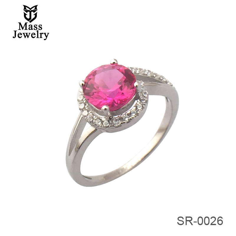 Fashion Fine Jewelry Adjustable Silver 925 Sterling Gemstone Ring Woman