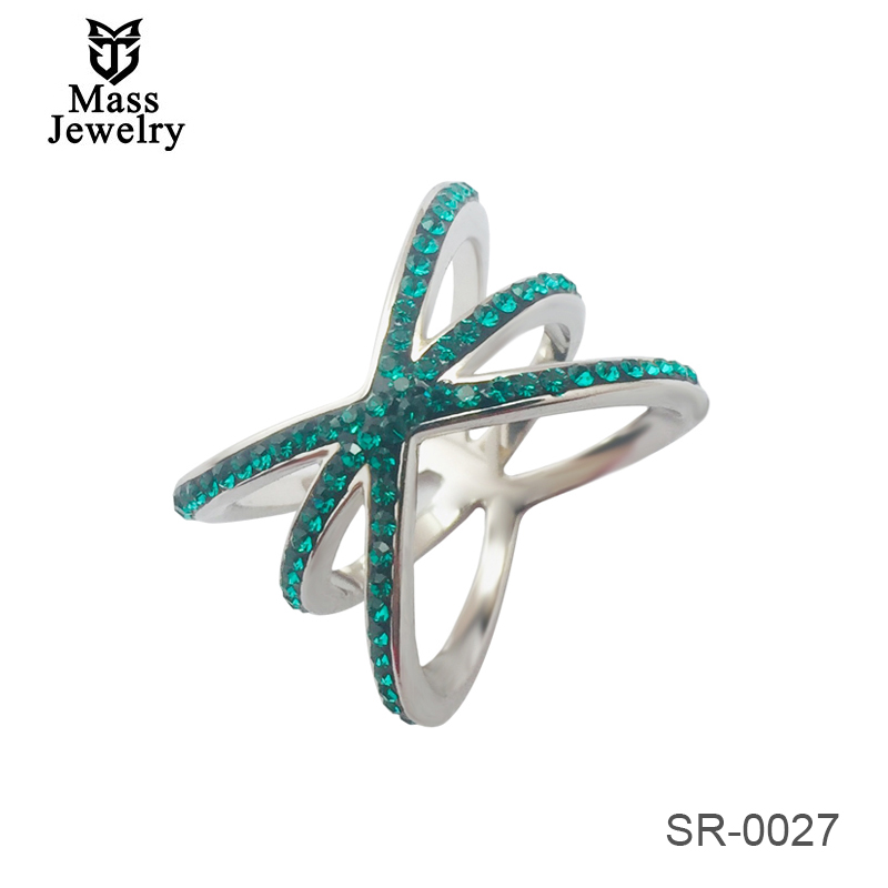 Embellished With Crystals From Swarovski Wholesale 925 Sterling Silver Ring