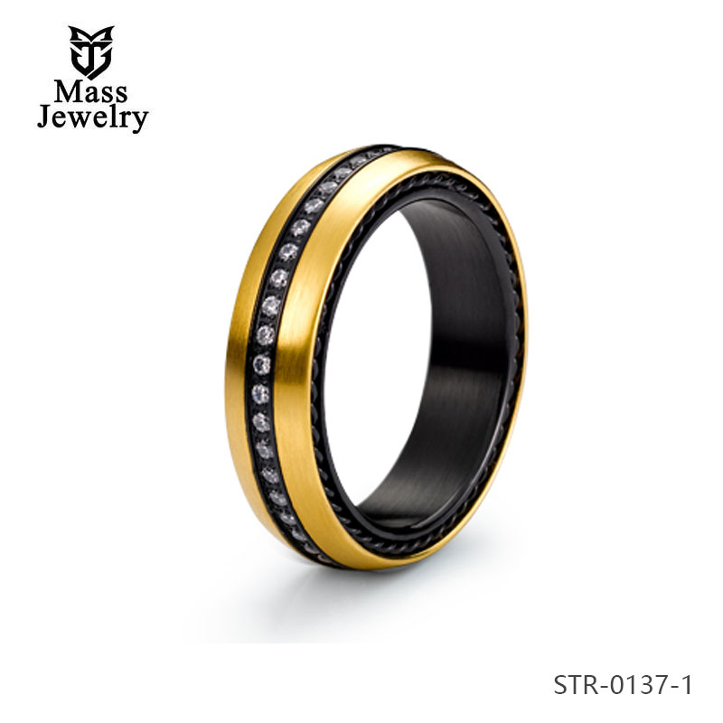 Cheap Wholesale Jewelry Women, Fashion 18K Gold Plated Dubai Stainless Steel Rings Jewelry