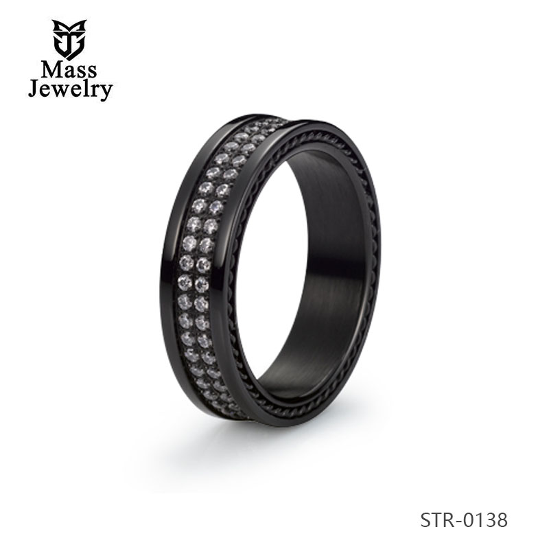 Men Jewelry Factory Supply White Stainless Steel Mens Ring For Sale