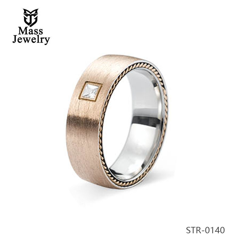 Cheap Price Custom Design Stainless Steel Signet Ring Rose Gold Plated Jewelry For Men