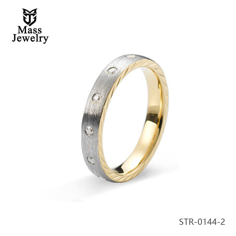 Dubai Gold Plated Style Men Fashion Ring Stainless Steel Jewelry