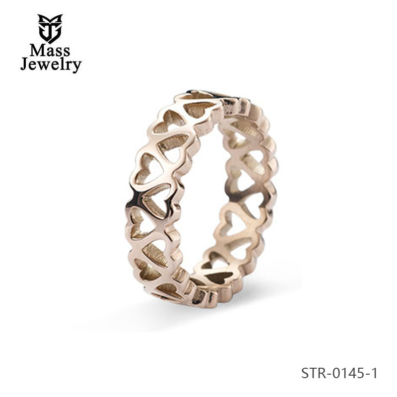 China Manufacturers Selling Titanium Steel Smooth Ring Fashion Gold Stainless Steel  Ring Jewelry