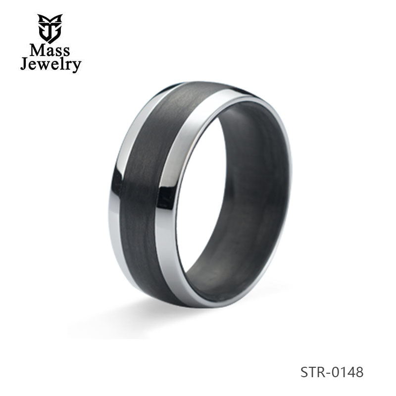 Cheap Price Fancy Design 8Mm Wide Men'S Ring Fashion Jewelry 316L Stainless Steel Ring For Men