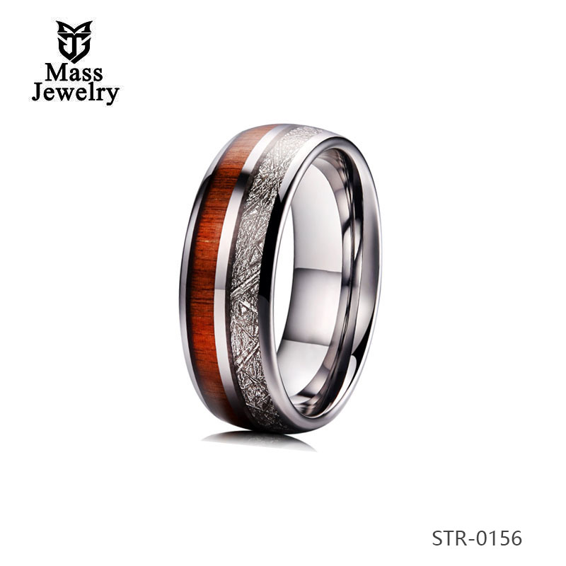 Stainless Steel Jewelry Latest Gold Finger Rings Designs  Imitation Meteorolite Ring