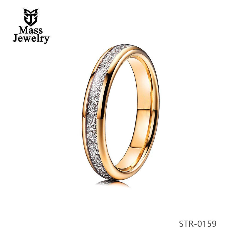 Sale Women Ring  Stainless Steel Model Stone Men  Imitation Meteorolite Ring Rose Gold Plated