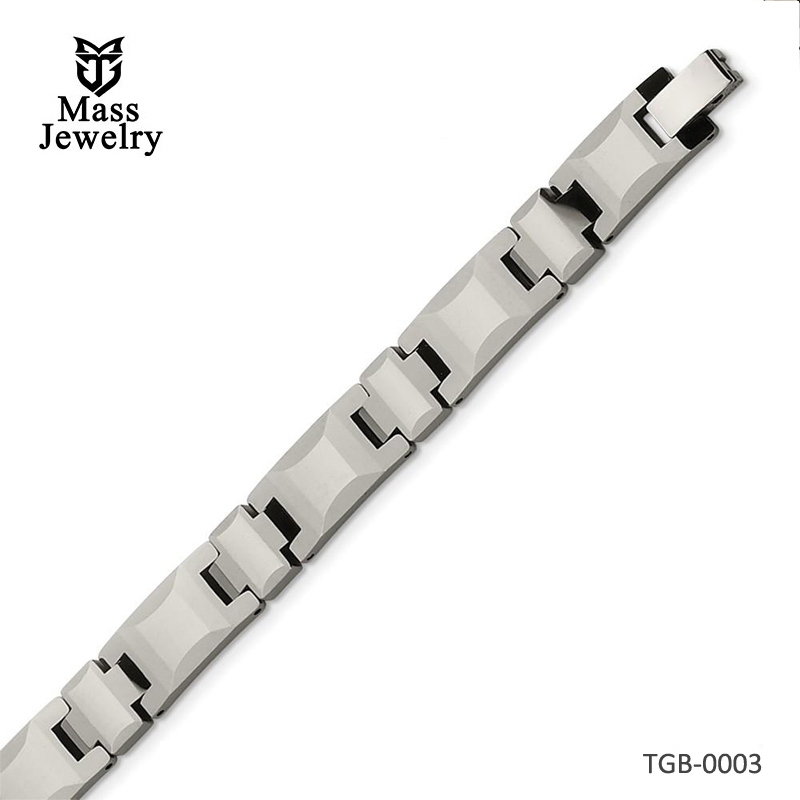 Tungsten Polished Bracelet 8in