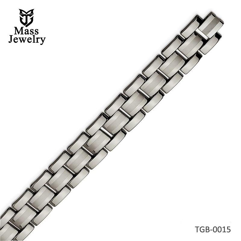 Tungsten Polished Bracelet 8.5in