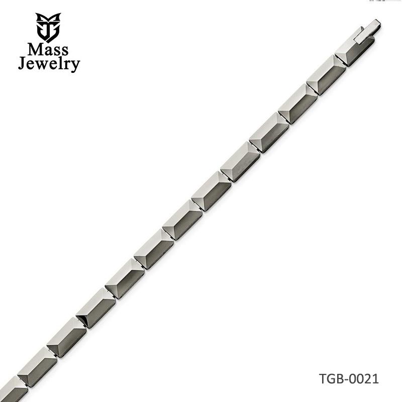 Tungsten Polished Bracelet 8.25in