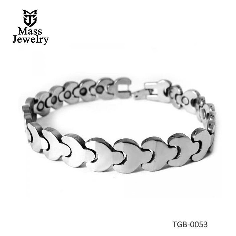 Women's Polished Tungsten Carbide Magnetic Bracelet