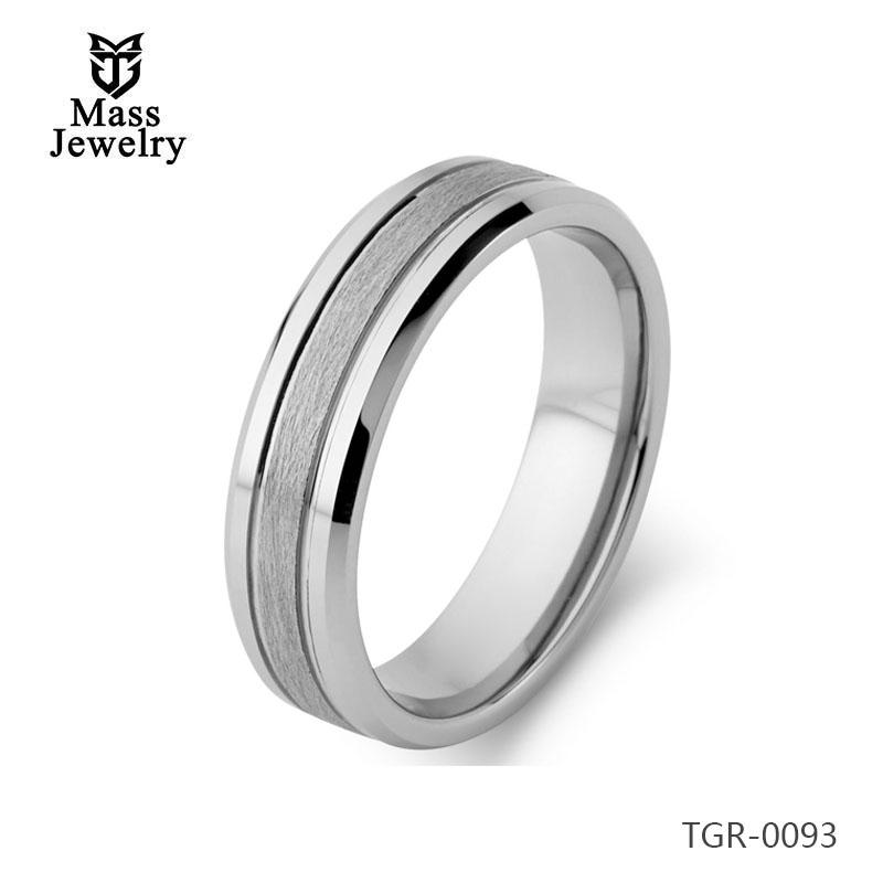 Tungsten Carbide Ring 8mm width LOGO Custom Color Tungsten Carbide Signet Rings for Men Women