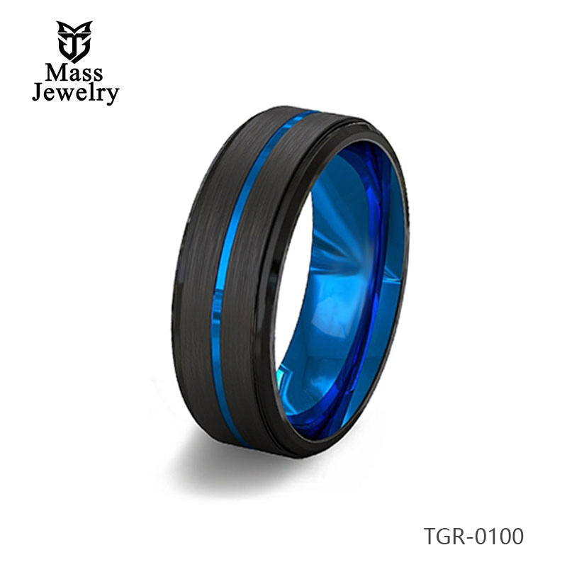 New Arrival High Polished White Tungsten Ring Jewelry Mens Tungsten Carbide Ring Wholesale
